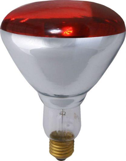 Infrapuna lämpölamppu 175W E27 - Punainen Hard Glass