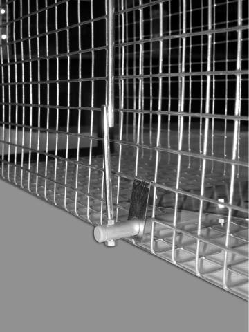 Supi-, mäyrä- ja kettuloukku - 2 sisäänkäynnillä - kokoon taitettava