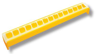 Novital tipujen ruokintakaukalo 50cm, keltainen
