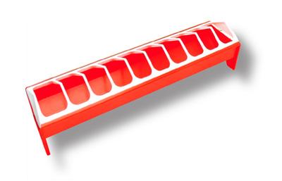Novital suurempien tipujen ruokintakaukalo 50cm, punainen