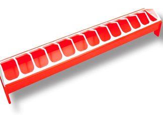 Novital suurempien tipujen ruokintakaukalo 75cm, punainen